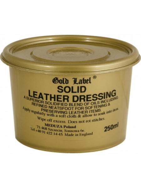 Бальзам для кожи Solid Leather Dressing Gold Label